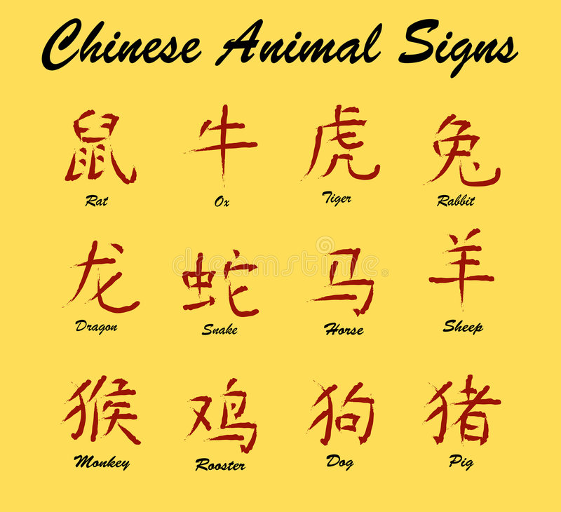 Chinese Animal Signs royalty free illustration