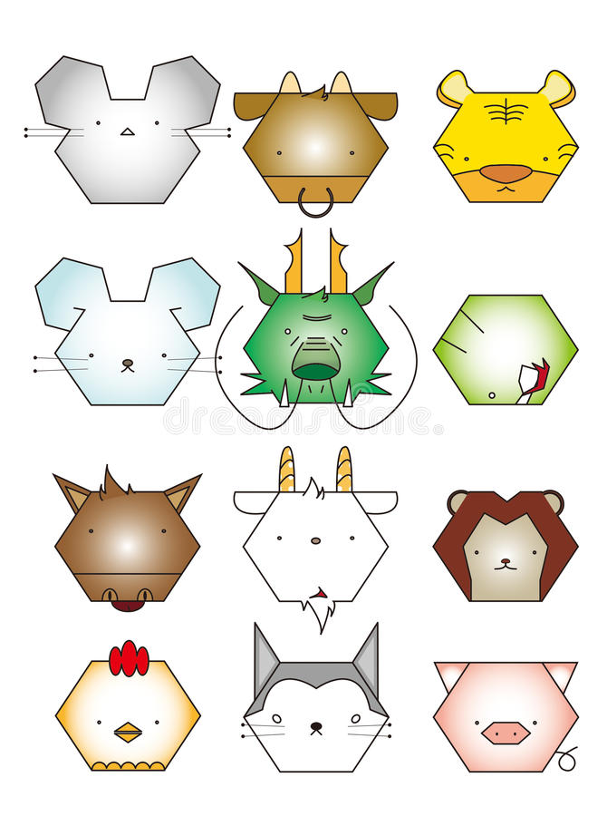 The Chinese Animal Zodiac stock photo