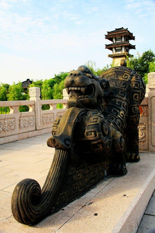 Chinese antieke architectuur in de stijl van de Ouden stock foto's