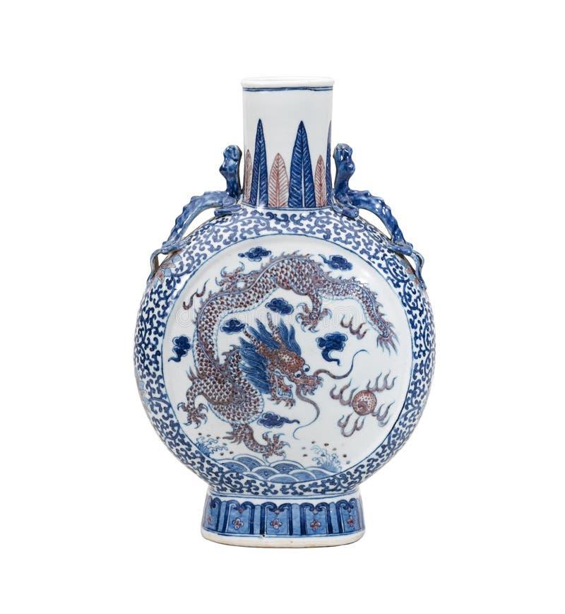 Chinese antieke vaas stock afbeelding