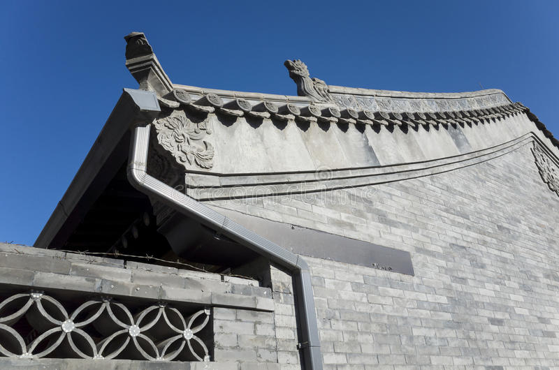 Chinese Antique architectural features stock photography
