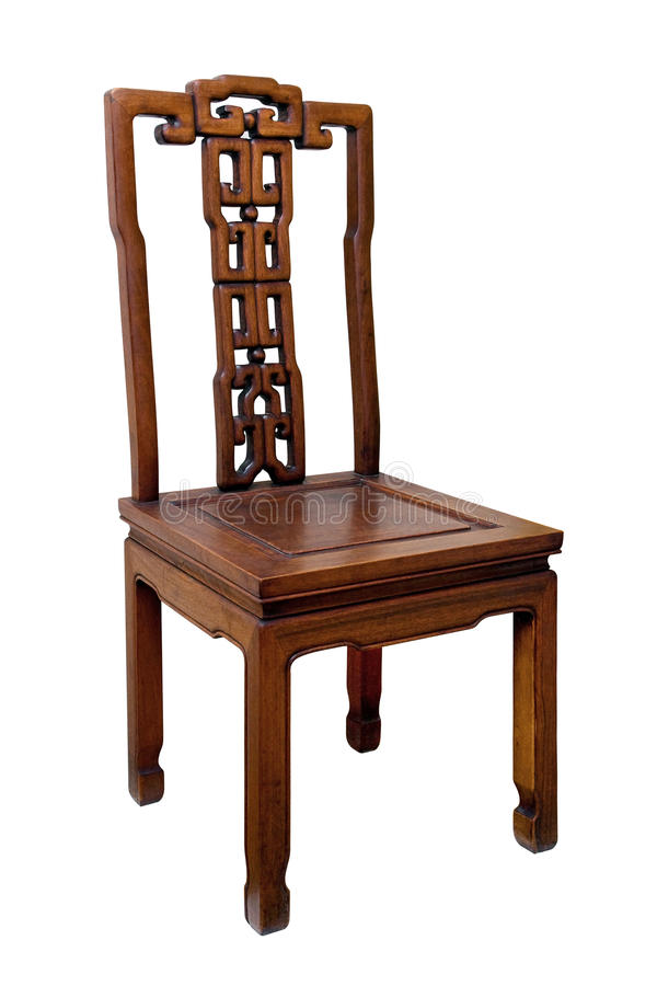 Download Chinese Antique Chair Isolated On White Background Stock Image - Image: 14245995