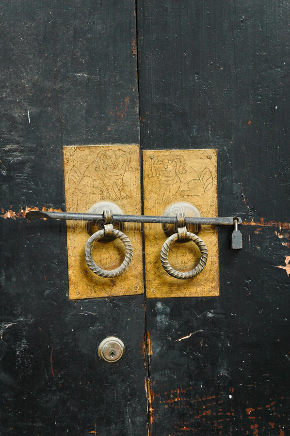 Download Chinese Antique Door-handles. Stock Image - Image of architecture, asia: 11693327