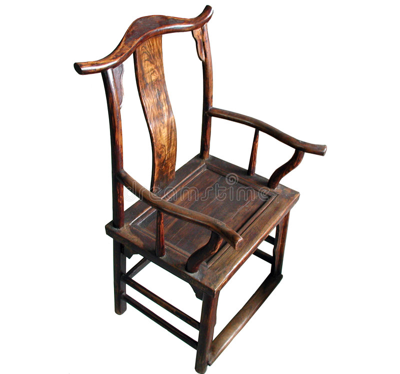 Chinese Antique Furniture Chair (isolated) stock photography
