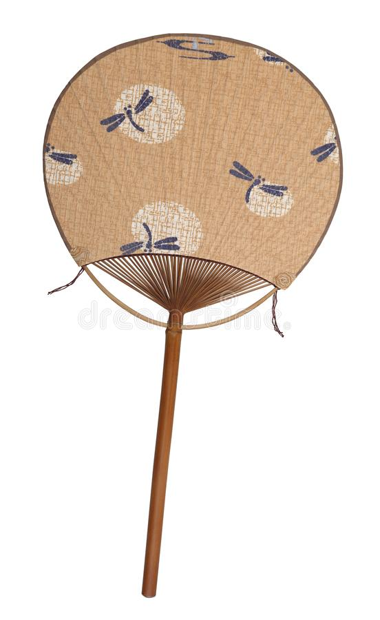 Chinese antique paper fan stock image