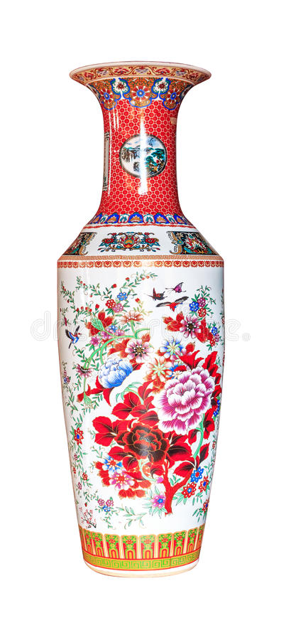 Chinese antique vase royalty free stock photography
