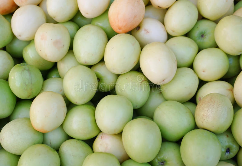 Chinese apple at market. Ziziphus mauritiana also known as Jujube is a tropical fruit in Asia royalty free stock image