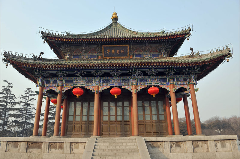 Download Chinese architecture stock photo. Image of tiles, xian - 4363412
