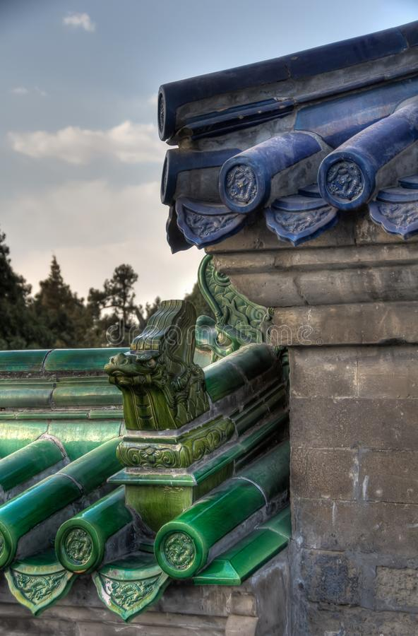 Chinese Architecture in Temple of Heaven, Beijing. royalty free stock photos