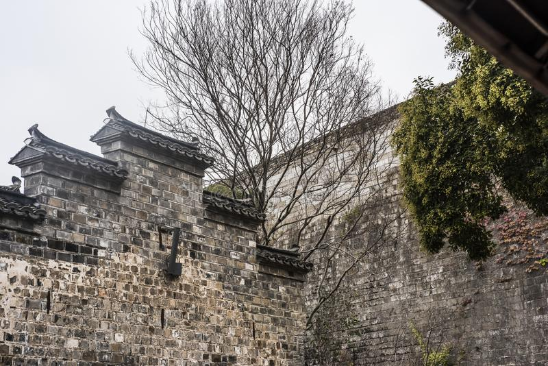 Chinese architecture on the edge of the Ming Dynasty wall. The Chinese-style building on the edge of the Ming Dynasty wall was taken in the East Gate of the old royalty free stock photography