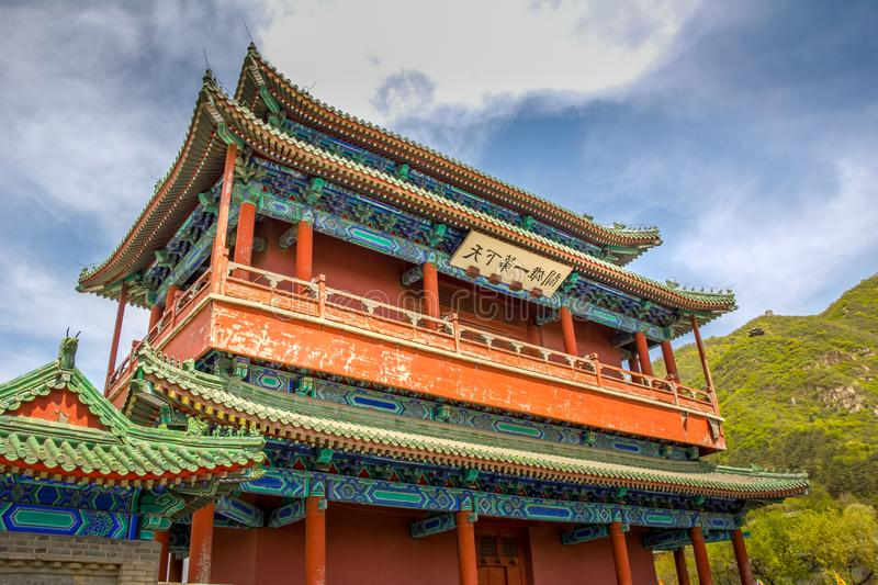Chinese architecture in the Great Wall royalty free stock photography