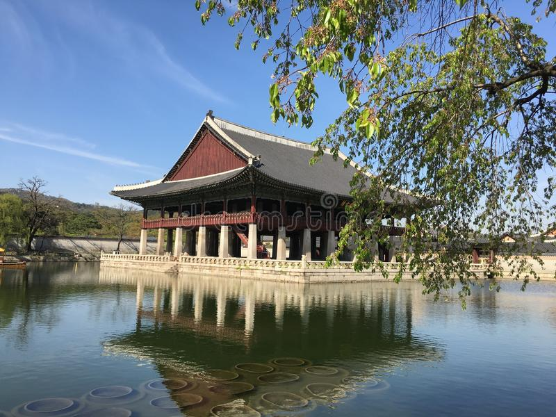 Chinese Architecture, Japanese Architecture, Reflection, Historic Site stock images