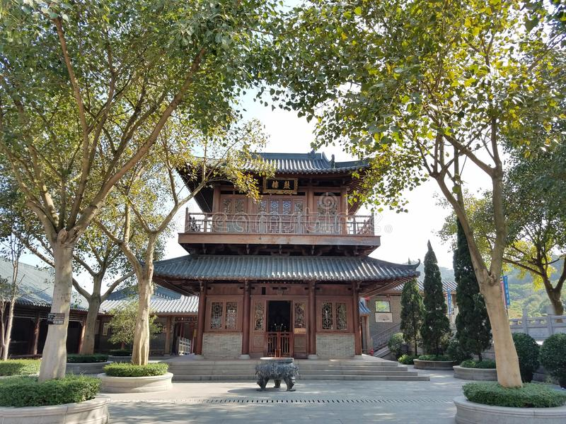 Chinese Architecture, Tree, Shinto Shrine, Temple stock photography
