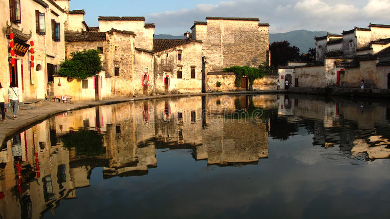 Chinese architectuur Huizhou stock fotografie