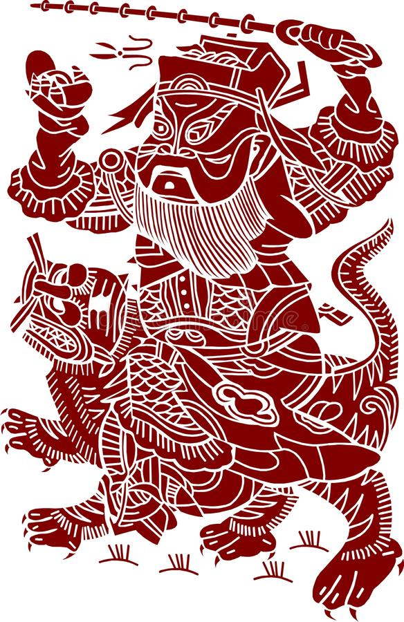 Chinese Artistic Pattern royalty free illustration