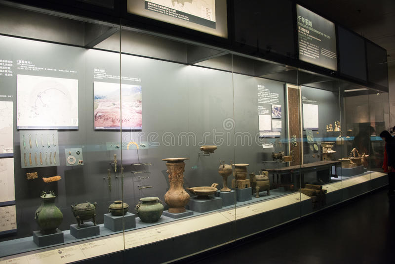 Chinese Asia, Beijing, the capital museum, the ancient capital of Beijing, historical and cultural exhibition stock photography