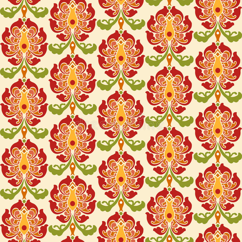 Chinese asian seamless vector pattern background. Traditional ornament. vector illustration