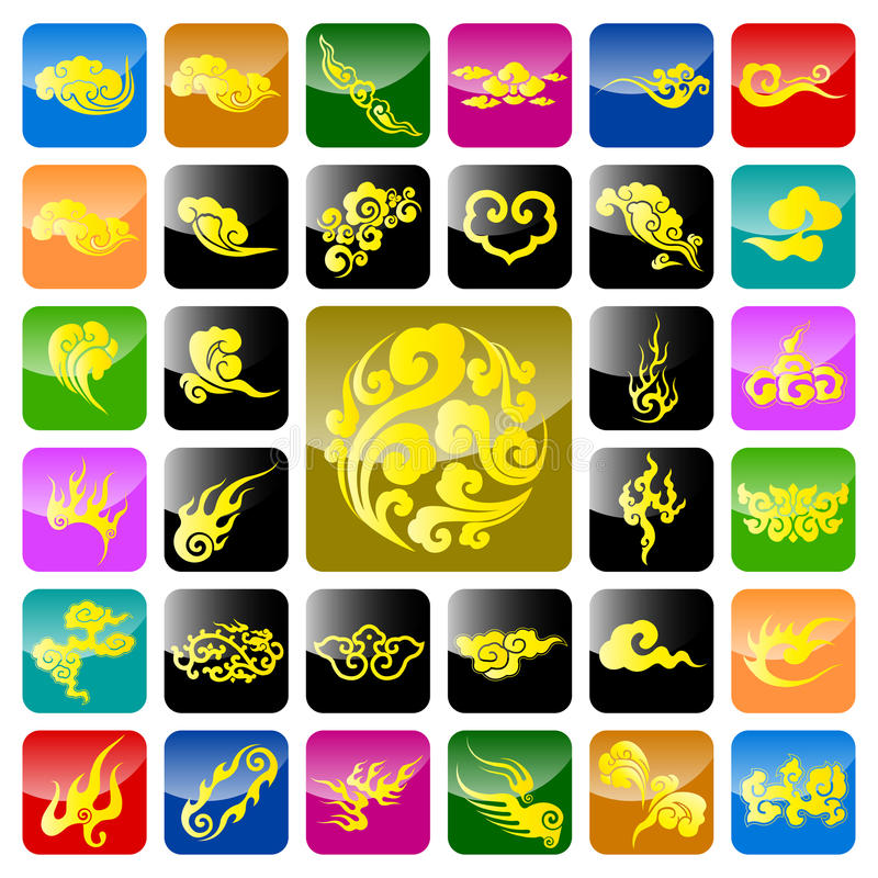 Free Chinese Auspicious Cloud Royalty Free Stock Photography - 13804007