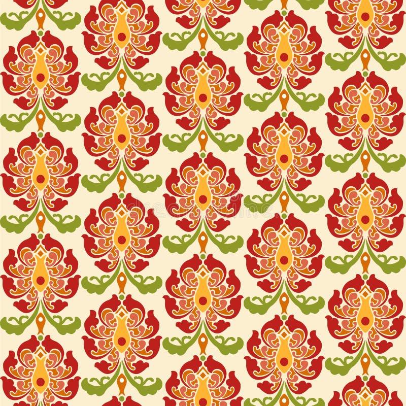 Chinese Aziatische naadloze vectorpatroonachtergrond Traditioneel ornament vector illustratie