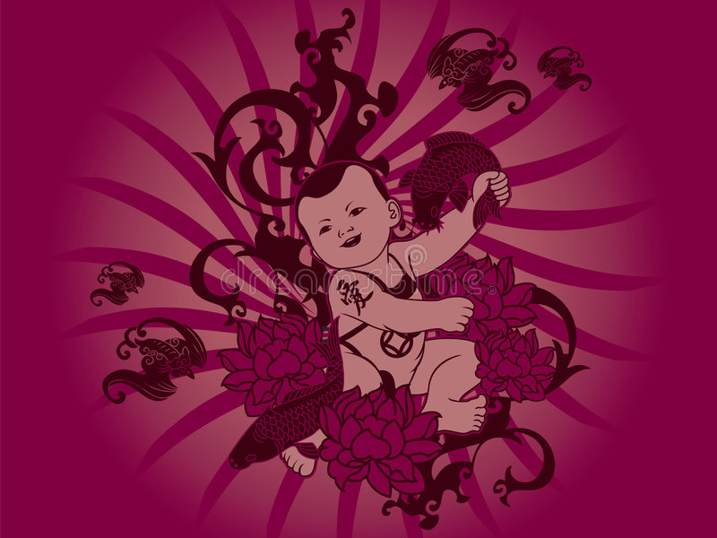 Chinese Baby vector illustration