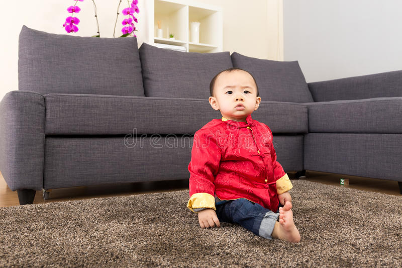 Chinese baby boy royalty free stock photo