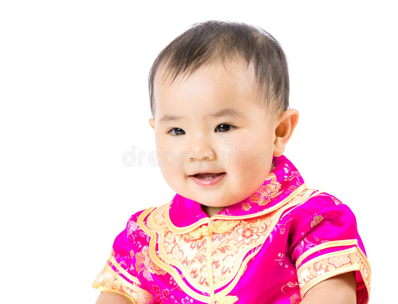 Chinese baby girl royalty free stock images