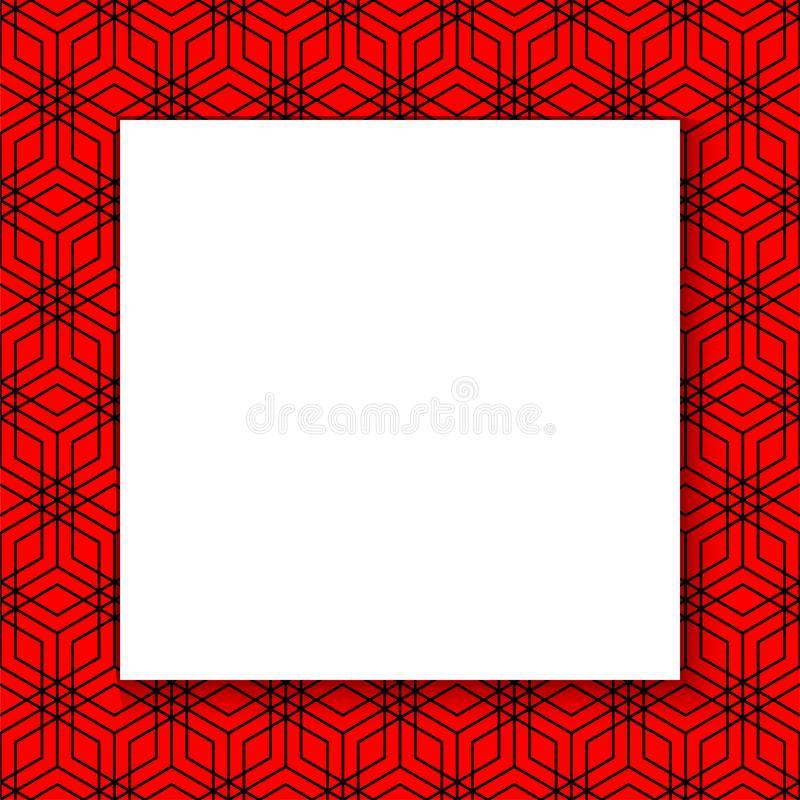 Chinese background card for concept design. Decorative vector border. Calendar poster. Chinese invitation template. Abstract. Concept graphic element. 2019 stock illustration