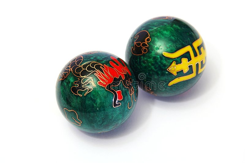 Chinese balls stock photos