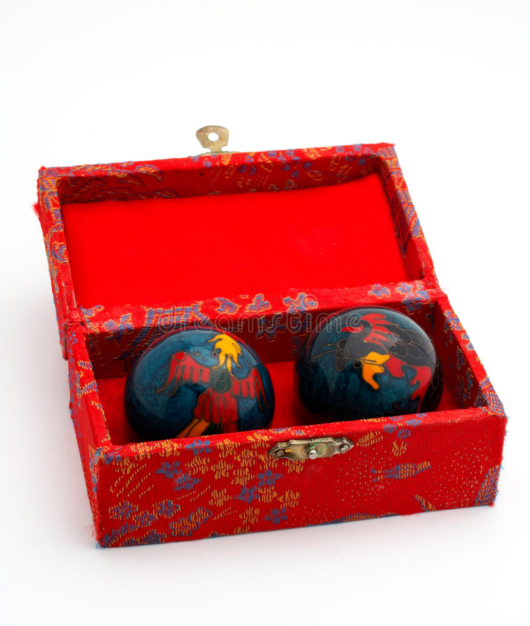 Free Chinese Balls Inside The Red Box Stock Image - 981481