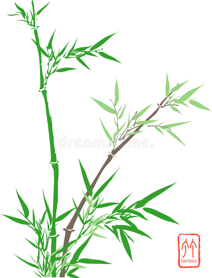 Download Chinese Bamboo stock illustration. Illustration of fengshui - 4493764