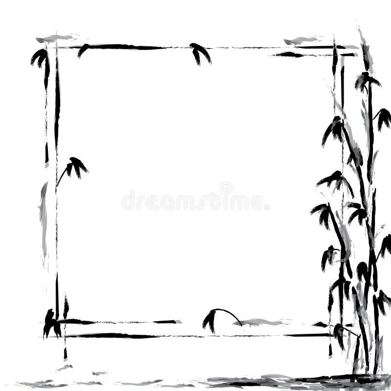 Chinese Bamboo Background royalty free illustration