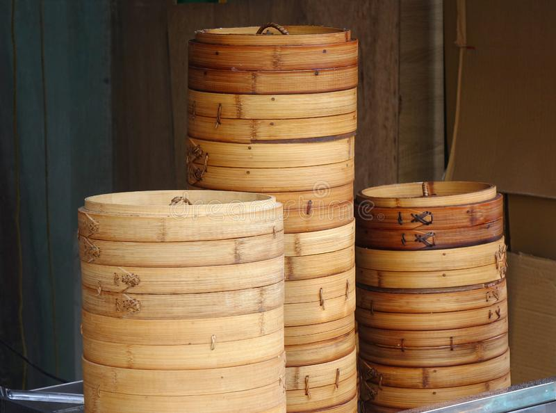 Chinese Bamboo Steamers stock photos