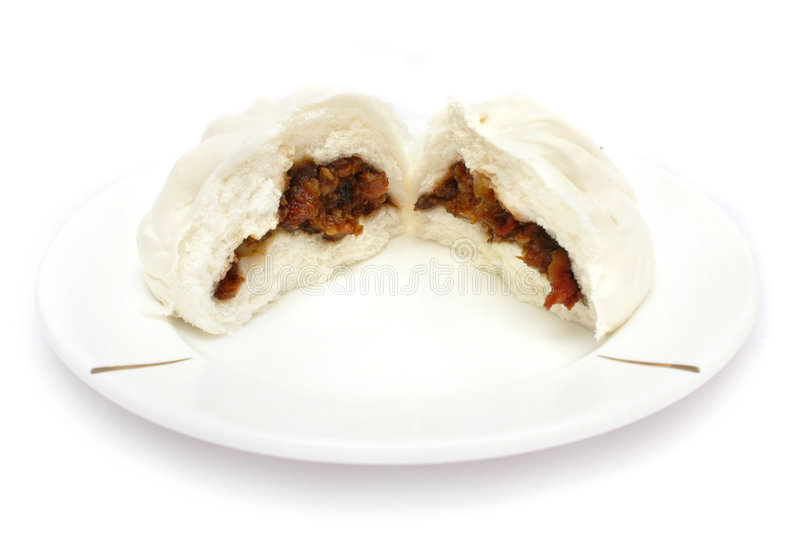 Chinese Barbecued Pork Bun (Cha Siu Baau) stock images