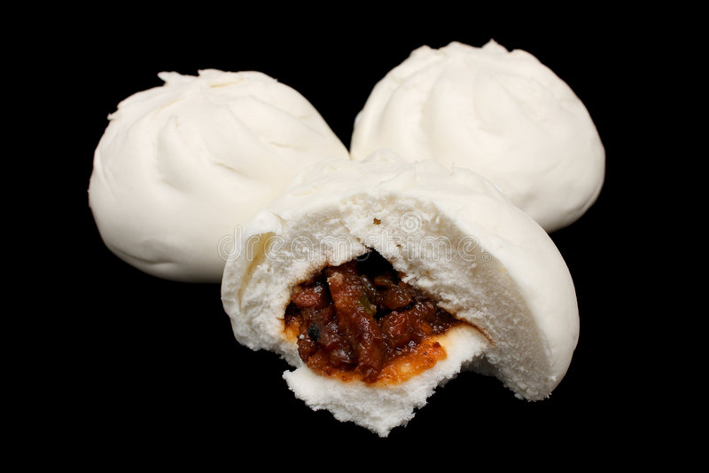 Chinese Barbecued Pork Bun (Cha Siu Baau) royalty free stock image