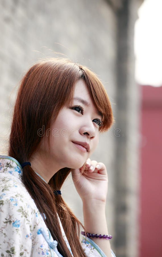 Download Chinese beauty portrait stock image. Image of smile, asia - 19973487