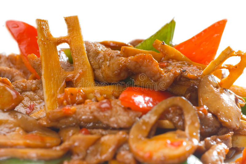 Chinese beef and vegetables royalty free stock photo