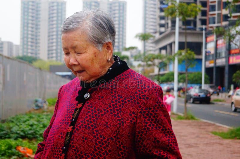 Chinese bejaarden stock foto's