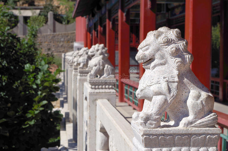 Chinese beschermerleeuwen royalty-vrije stock afbeelding