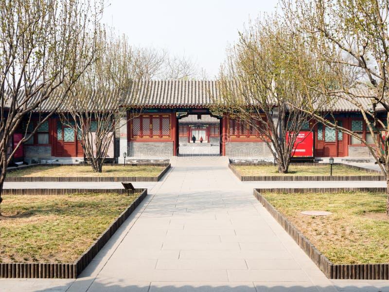 Chinese binnenplaats en tuin royalty-vrije stock afbeelding