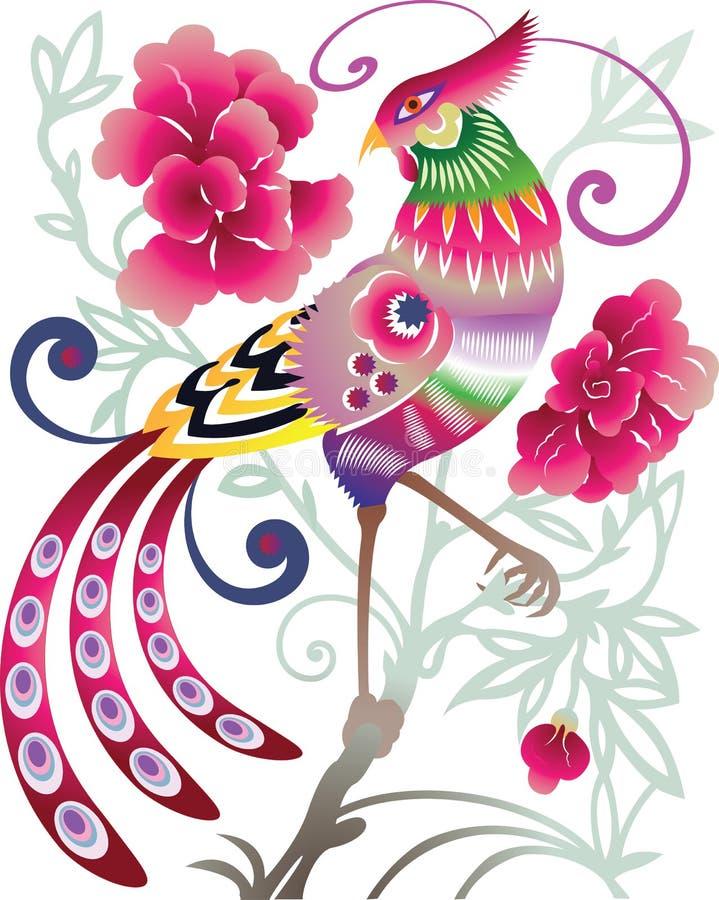 Chinese bird stock photo
