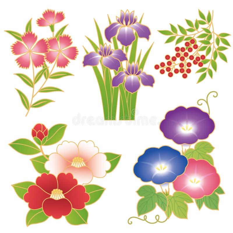 Chinese bloemen royalty-vrije illustratie