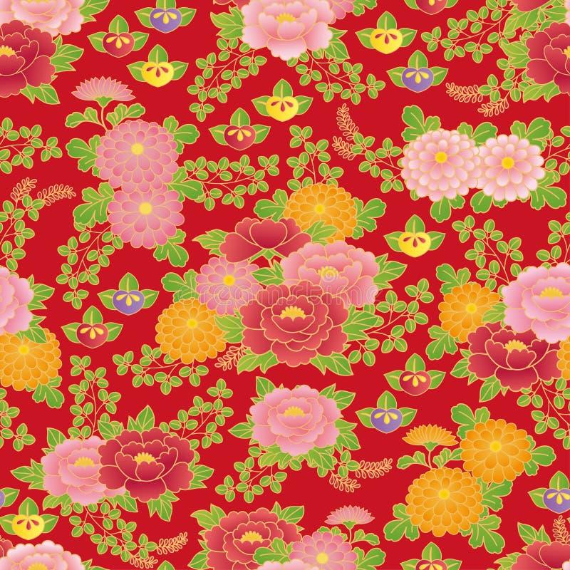 Chinese bloemenachtergrond stock illustratie