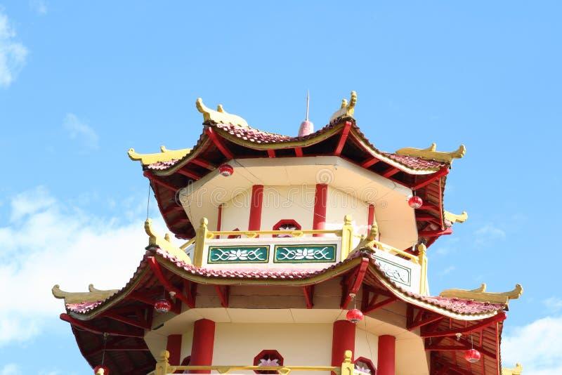 Chinese boeddhistische Pagode Sapta Ratna stock fotografie