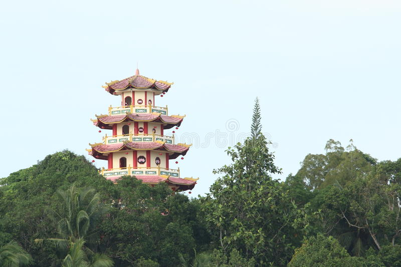 Chinese boeddhistische Pagode Sapta Ratna royalty-vrije stock afbeeldingen
