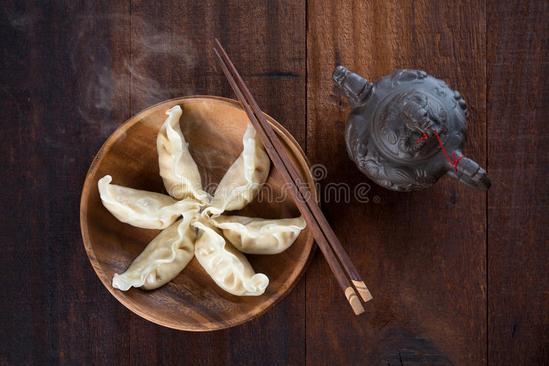 Chinese Boiled Dumplings royalty free stock photos