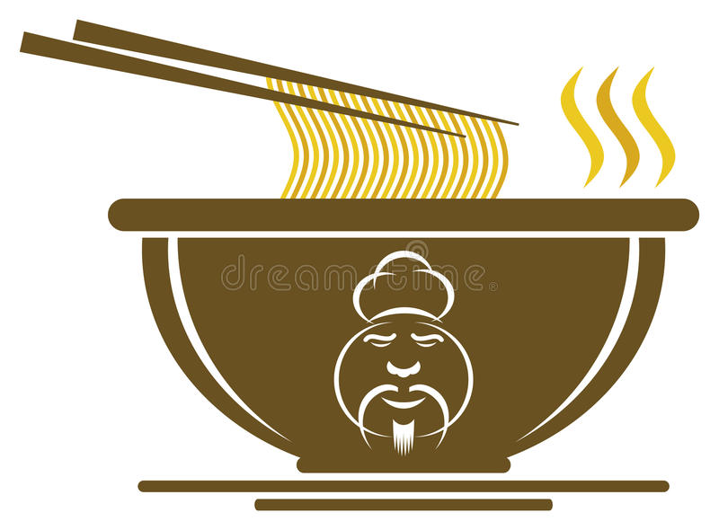 Download Chinese Bowl With Chef Sign Stock Illustration - Image: 26748088