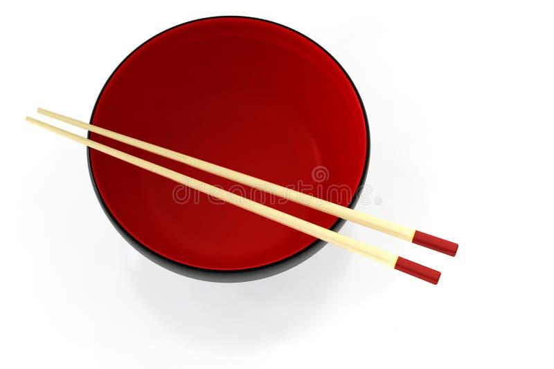 Chinese Bowl & Chopsticks stock photos