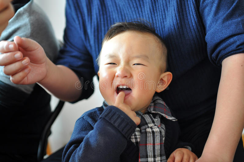A Chinese boy royalty free stock photo