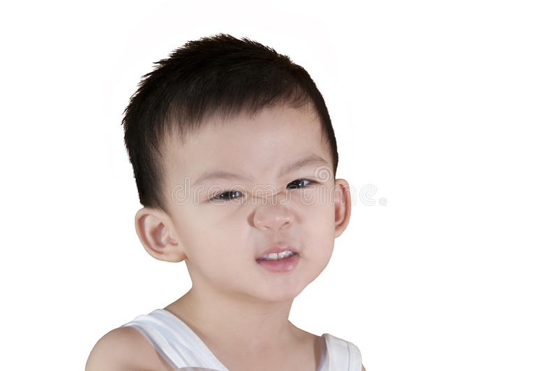 Angry Chinese Boy stock photos