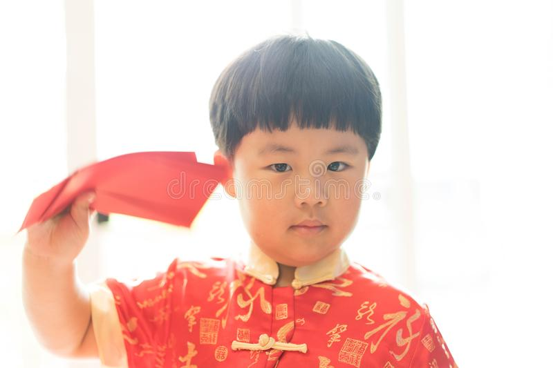 Chinese Boy In Chinese New Year Festival Stock Photo Image Of Cute Enjoin 107964340